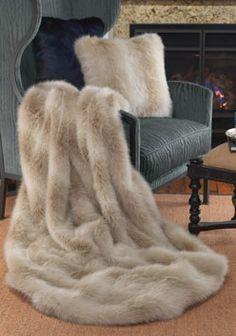 Blonde Fox Limited Edition Faux Fur Throws Donna Salyers' Fabulous-Furs World's Finest Faux Fur #FauxFur #FabulousFurs Shop Now: fabulousfurs.com