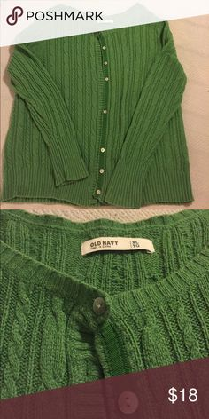 OldNavy EUC XL green button down cardigan EUC, damage free, smoke free home Old Navy Tops