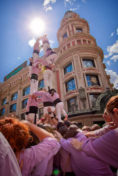 Castellers, Barcelona, Spain