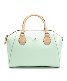 Look at this Kate Spade Mint Mojito Pippa Parnell Street Leather Satchel on #zulily today!
