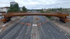 Main span of new bridge over M8 at Sighthill now installed Glasgow City Centre, Weathering Steel, Travel Route, City Council, Travel Activities, Pedestrian, The Locals, Maine, Bridge