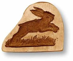 Jumping Rabbit springerle cookie mold,  65 mm x 52 mm / 2.6 in x 2.0 in