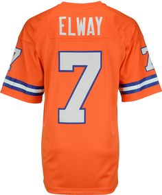 Mitchell   Ness Men s John Elway Denver Broncos Replica Throwback Jersey  Men - Sports Fan Shop By Lids - Macy s. Nfl JerseysJohn ... 33f733d22