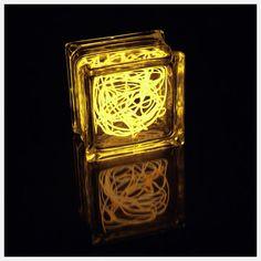 fun lighting project, el wire inside transparent block (acrylic, glass, ...?)