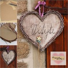Love Days, Heart Crafts, Refurbished Furniture, Diy Accessories, Birthday Presents, Grapevine Wreath, Glamping, Wood Projects, Dyi