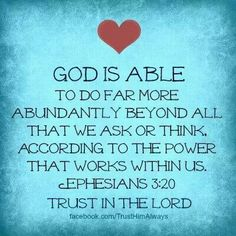 God is able.  A recovery from narcissistic sociopath relationship abuse.
