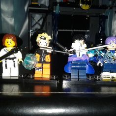My Lego customs #lego #legocustoms #naruto #sasuke #futuretrunks #dbx #leohoward #kickinit