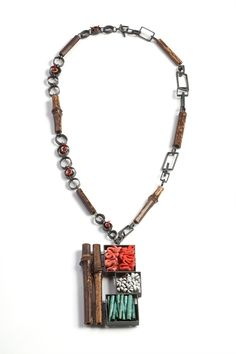 bamboo & box necklace