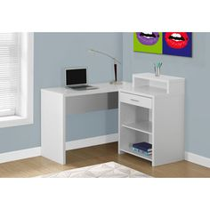 Shop for COMPUTER DESK - WHITE CORNER WITH STORAGE. Get free shipping at Overstock.com - Your Online Furniture Outlet Store! Get 5% in rewards with Club O!