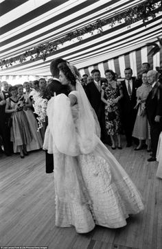 First dance: Jacqueline Kennedy dances with her husband, John F. Kennedy, at their wedding reception