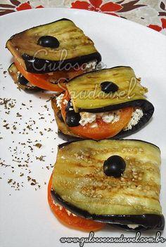Sanduíche Natural de Berinjela com Ricota Low Carb Recipes, Vegetarian Recipes, Cooking Recipes, Healthy Recipes, Comidas Light, Healthy Snacks, Healthy Eating, Light Recipes, Food Inspiration