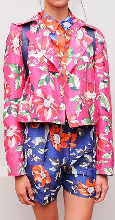 Ostwald Helgason Spring 2014 I love the pink jacket, and I like the shorts, but I hate them together.