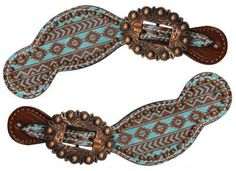 Showman Navajo Spur Straps - W3 Cowgirl Trading Co.