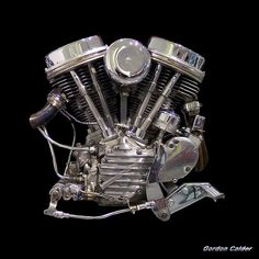 "Harley Panhead Engine 1948 (From ""Captain America"" chopper from the film Easy Rider) Harley Davidson Panhead, Harley Davidson Engines, Harley Panhead, Harley Bikes, Amf Harley, Ducati, Captain America, Motorcycle Engine, Motorcycle Garage"