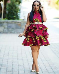 Ankara Short Gown Styles Beautiful African Dress To Try Out Hello beautiful ladies, Today we a African Fashion Ankara, African Inspired Fashion, Latest African Fashion Dresses, African Dresses For Women, African Print Dresses, African Print Fashion, African Attire, African Wear, Ghanaian Fashion
