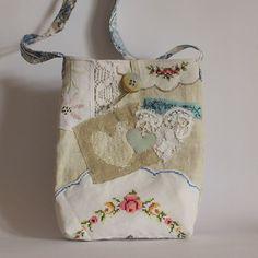 Bag antique hemp applique embroidery hearts by roxycreations Embroidery Hearts, Embroidery Bags, Learn Embroidery, Vintage Embroidery, Folk Embroidery, Embroidery Designs, Embroidery Transfers, Fabric Bags, Vintage Fabrics