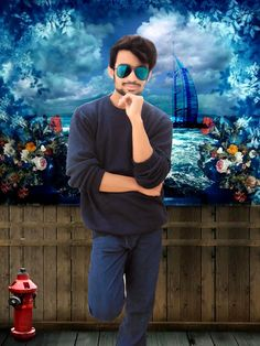 Usama Khan New Modeling Pose in Photoshop Psd File