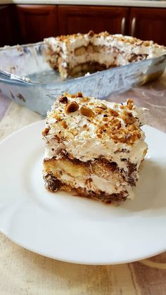 Greek Sweets, Greek Desserts, Cold Desserts, Party Desserts, Greek Recipes, Cookbook Recipes, Cake Recipes, Cooking Recipes, The Kitchen Food Network