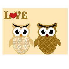 Love owls print