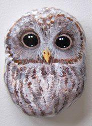 Gallery.ru / Фото #21 - Птицы - Triss Painted Rocks Owls, Owl Rocks, Painted Rock Animals, Painted Stones, Pebble Painting, Love Painting, Pebble Art, Owl Crafts, Stone Crafts