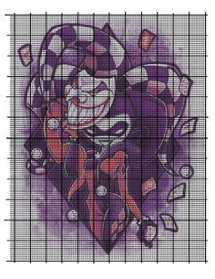 Joker and Harley cross stitch