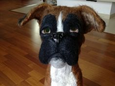 NEEDLE FELTED BOXER by FairytaleWORLDofART on Etsy Art World, Needle Felting, Fairytale, Boxer, Fantasy, Dolls, Trending Outfits, Handmade Gifts, Animals