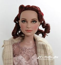 """** All work is done in smoke-free and pet-free environment. * Former 16"""" Tonner Re-Imagination Dixie* -- Kit head, 16"""" Chic body, Bisque skin tone ---- Nude doll with a stand in the default boxes --"""