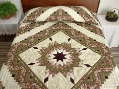 Lone Star Quilted Table Runner | Awesome, By and On : lone star log cabin quilt pattern - Adamdwight.com