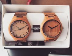 Two of our best-selling wood watches: Agcaoili and Macalinaw. Buy one of them today at www.relomoto.com for only $65 + free shipping worldwide! Both can be personalized
