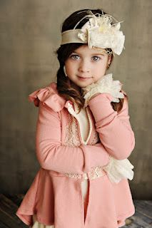 Persnickety Fall 2012 -   Victoria Jacket - pink (sizes 2-7)   *To DIE for!*Anabelle Headband (small & large)  Cream Cuffs (small & large)
