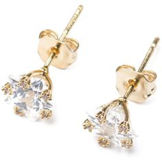 Star-Studded Faux Crystal Earrings ($8.70) ❤ liked on Polyvore featuring jewelry, earrings, fake stud earrings, imitation jewelry, crystal earrings, artificial jewellery y crystal jewellery
