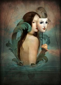 "Christian Schloe ""Linger in the Shadows"" by Christian Schloe Christian Schloe makes amazing digital paintings with a vintage aesthetic. Art prints are available here."