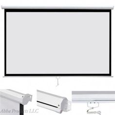 Large Manual Pull Wall Mount Projector TV Home Theater Movie Screen Home Theater Furniture, Home Theater Decor, Best Home Theater, Home Theater Rooms, Home Theater Seating, Diy Screen Printing, Screen Printing Machine, Home Theater Installation, Audio Installation