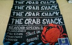 Crab Shack Coastal Placemats Set 4 Tapestry Nautical Beach Cottage  #WindhamHomeCollection