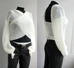 wrap, scarf, shrug...wear it in different ways. so easy and such a good idea!