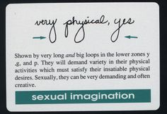 handwriting analysis - sexual imagination