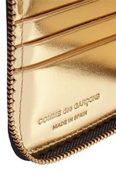 Comme des Garçons - Glossed-leather Wallet - Black - one size