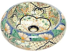 138 (V) Sink Bathroom Talavera Mexican Vessel Ceramic | Sinks, Mexicans And  House