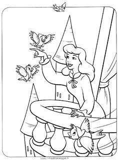 Coloriages Les Princesses Disney - princesse Cendrillon - au