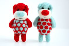 Two special miniature felted pocket bears for you and the one you love on Etsy, $73.34 CAD
