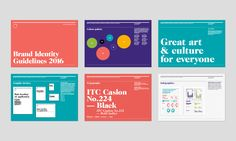 Arts Council England Brand Refresh - Blast Design Brand Identity Design, Branding Design, Ui Design, Graphic Design, Brand Book, Brand Guidelines, Logo Branding, Logos, Brand Packaging