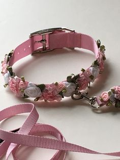 Blush Small Dog Collar Rose Dog Collar Cat Collar Pink The Effective Pictures We Offer You About Cat Accessories videos A quality picture can tell you many Diy Dog Collar, Collar And Leash, Cat Collars, Cat Accessories, Dog Wedding, Medium Dogs, Diy Stuffed Animals, Dog Harness, Pet Clothes