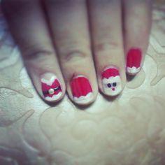 Santa/Christmas Nail Art