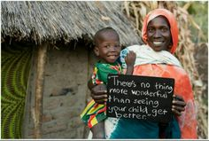 There's no thing more wonderful than seeing your child get better - Unicef