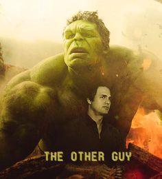 Bruce Banner/Hulk. I am in LOVE with Mark Ruffalo playing The Hulk! Yes!