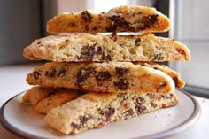 bacon chocolate chip biscotti - surprisingly good and don't be afraid to keep the bacon in good sized pieces