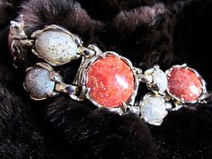 Vintage bracelet ensemble!  http://thrifttrick.blogspot.com/2012/01/i-love-this-bracelet.html
