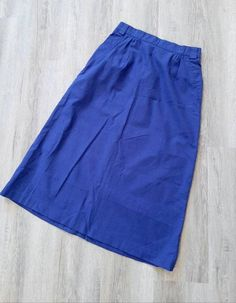 Periwinkle Blue, Nifty, Midi Skirt, Size 12, Etsy Shop, Pretty, Check, Skirts, Cotton