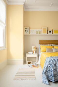 Yellow Bedroom Paint, Yellow Bedding, Paint Colors For Living Room, Light Yellow Bedrooms, Yellow Walls Living Room, Brown Bedrooms, Yellow Room Decor, Master Bedrooms, Yellow Bedroom Decorations