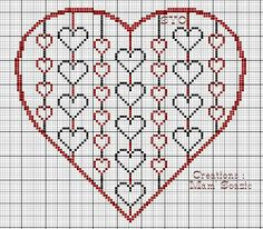 adapt to leave out the bottom line. let this strings form the shape Cross Stitching, Cross Stitch Embroidery, Embroidery Patterns, Wedding Cross Stitch Patterns, Cross Stitch Designs, Henna Heart, Graph Paper Art, Cross Stitch Heart, Back Stitch